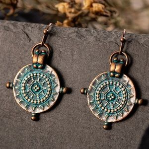 ⭐️ Ethnic Engraved Dangle Earrings ⭐️